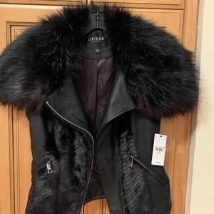 Guess faux fur/leather vest